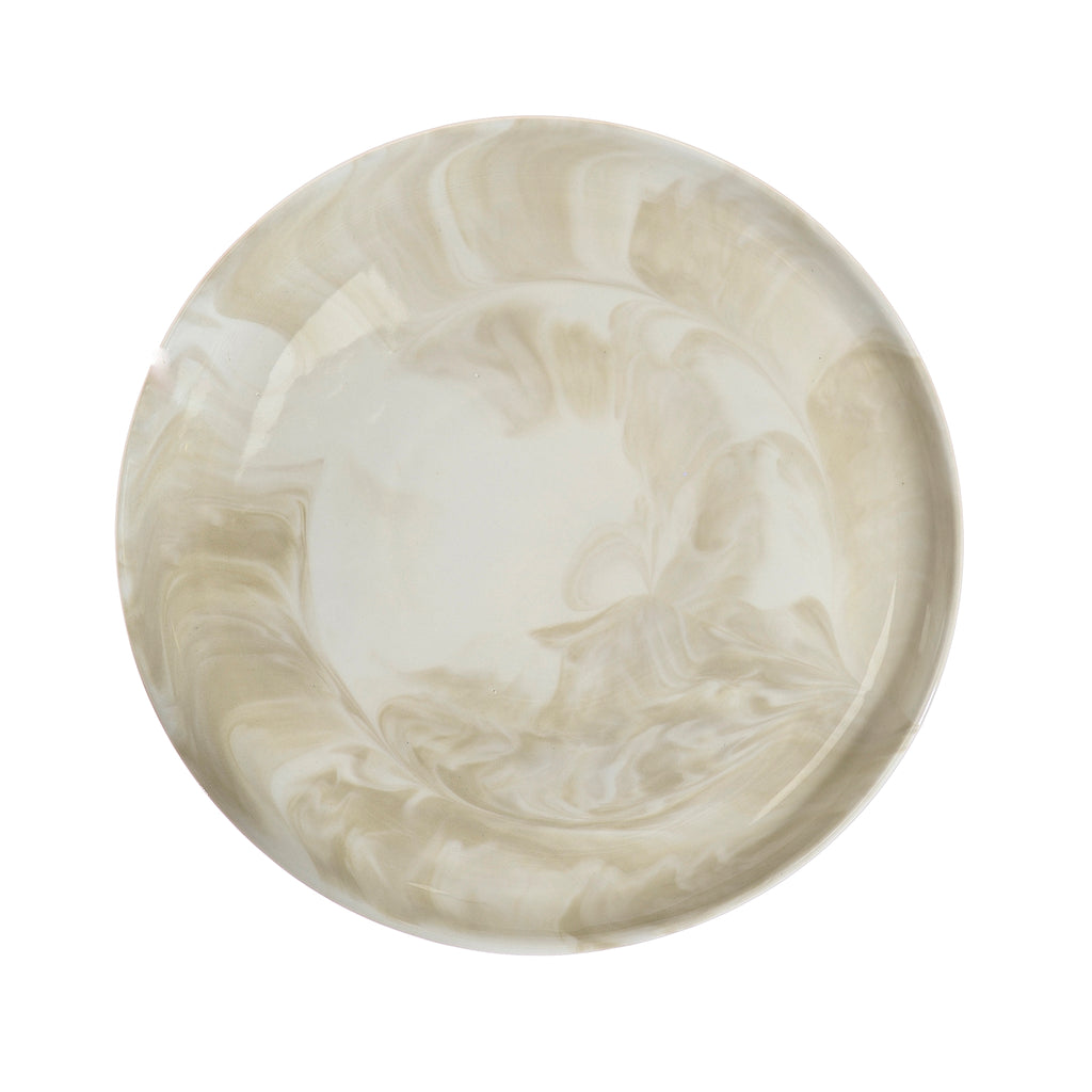 Swirl marble side plate - stone (last 4 remaining)