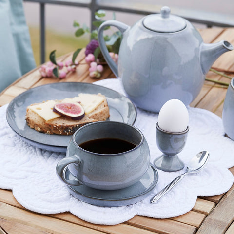 Amera cup and saucer – grey - back in stock April, 2021