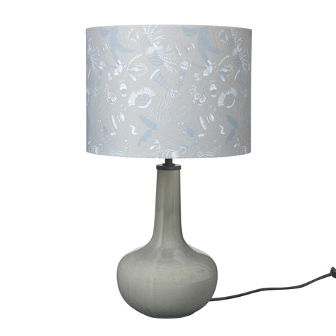 Ceramic 'bell' table lamp – grey