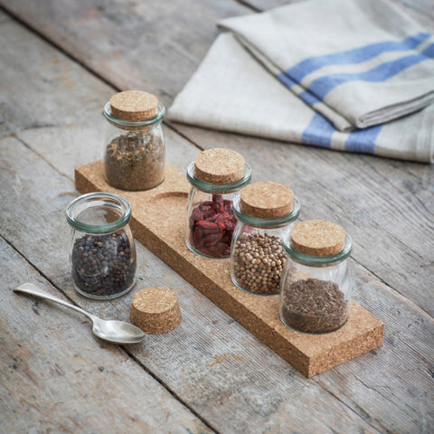 Cork spice rack