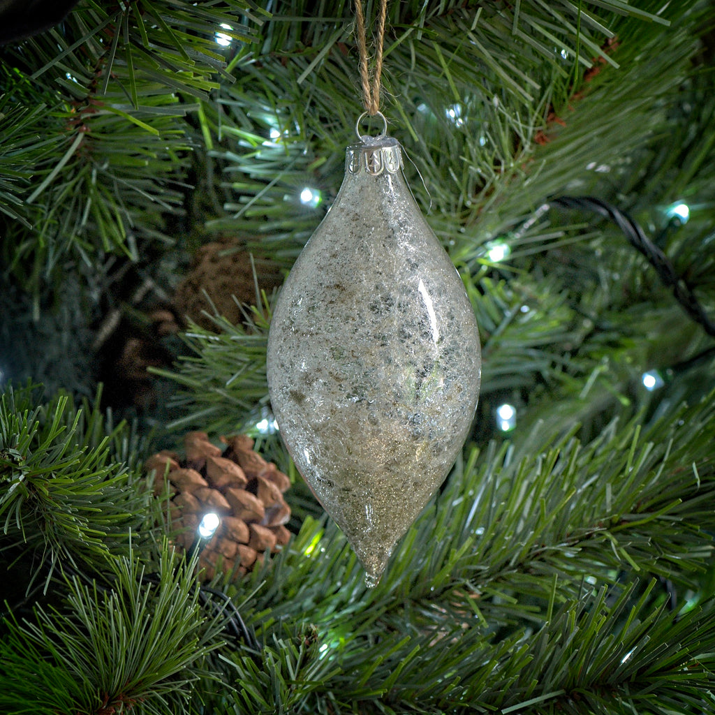 Glittery glass ornament