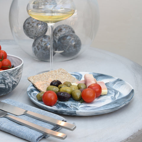 Swirl marble dinner plate - grey (last 1 remaining)