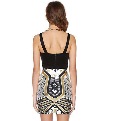 Geometric Bandage Dress