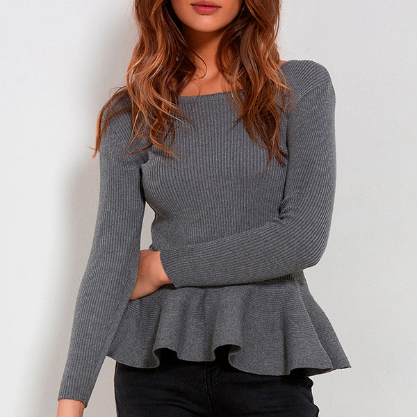 Noelia Peplum Sweater