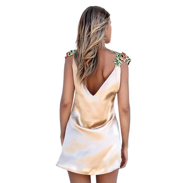 Flowers Gold Dress
