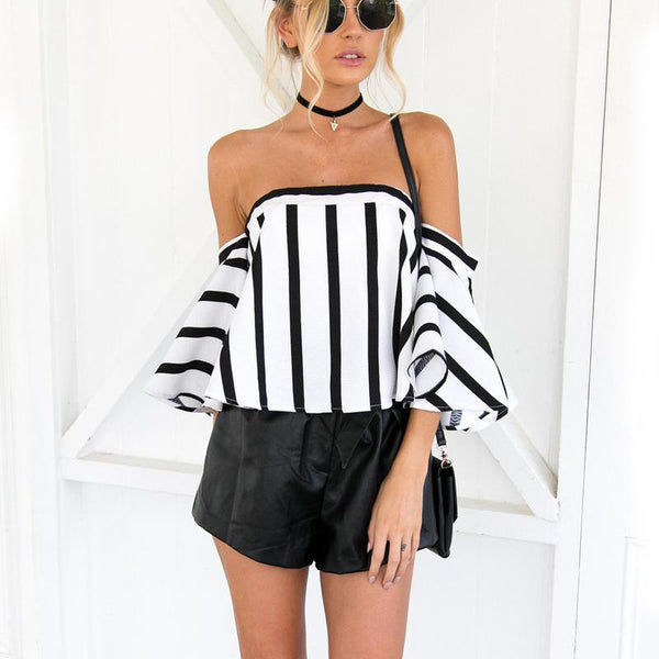 Flare Striped Blouse