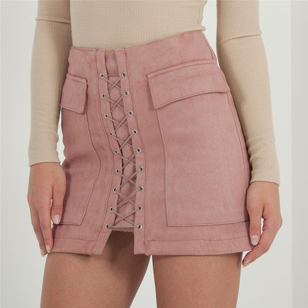 Bali Suede Leather Skirt