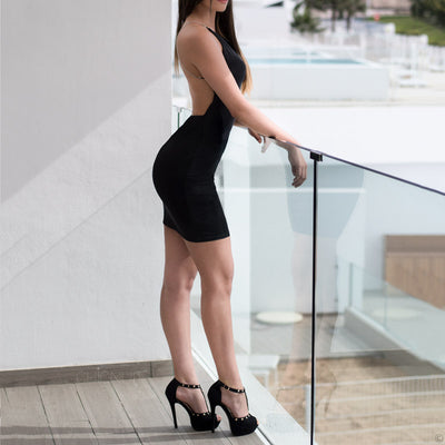 Sexy Diamond Strap Dress