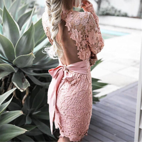 Lace Floral Bodycon