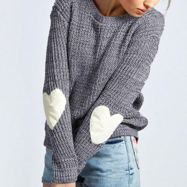 Hearts Knitted Sweater