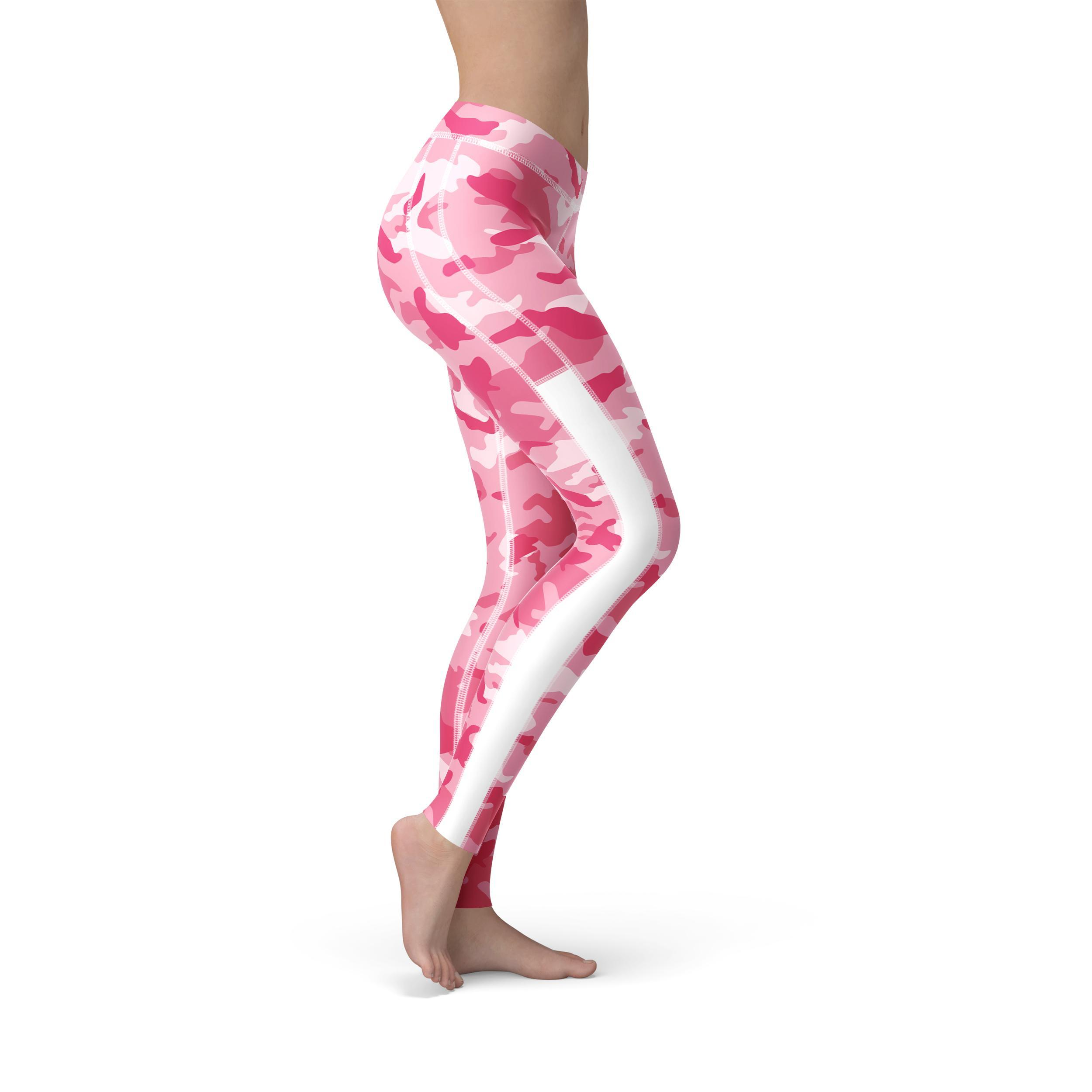 1877601468b173 Breathable Mesh Pink Camo Workout Leggings