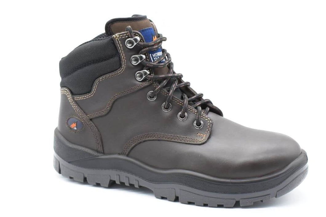 Lace Up Non Safety Boot - Claret - bagsnboots - Converse - Rollie - Birkenstock - Shoes - Footwear - Wodonga - Corowa