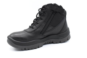 ZipSided Safety Boot - Black - bagsnboots - Converse - Rollie - Birkenstock - Shoes - Footwear - Wodonga - Corowa