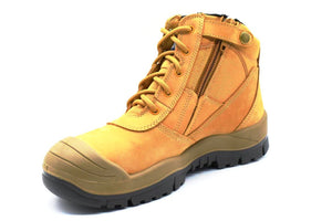 ZipSided Scuff Cap Safety Boot - Wheat - bagsnboots - Converse - Rollie - Birkenstock - Shoes - Footwear - Wodonga - Corowa