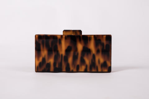 Inna Tortoise Acrylic Clutch Clutch  - House of Looks