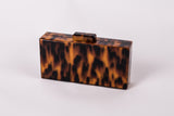 Inna Evening Tortoise Box Acrylic Clutch by House of Looks