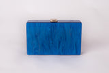 Hey Santorini in Ocean Blue Evening Acrylic Clutch by House of Looks