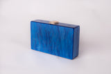 Hey Santorini in Ocean Blue Evening Box Clutch by House of Looks