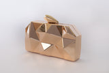 Wild Gold Metallic Clutch Evening Clutch by House of Looks