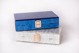 Hey Santorini Ocean Blue Acrylic Clutch Evening Clutch by House of Looks