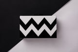 Black and White Zigzag Evening Acrylic Box Clutch by House of Looks