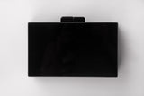 Black and White Evening Acrylic Box Clutch by House of Looks - Back View