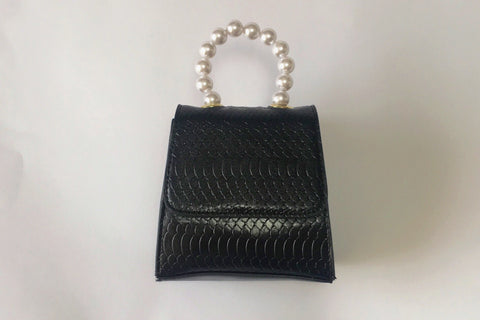 NEW Arabella Pearl Black Crossbody Bag Evening Clutch by House of Looks