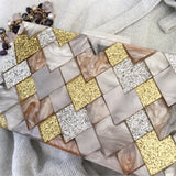 Olympia Acrylic Evening Gold Silver Rose Clutch Evening Clutch by House of Looks