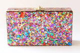 NEW Zara Colourful Confetti Pink Acrylic Clutch Evening Clutch by House of Looks