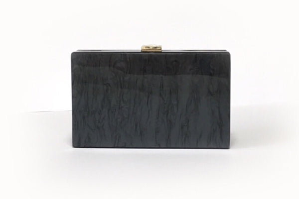 NEW Santorini Black Acrylic Clutch Evening Clutch by House of Looks