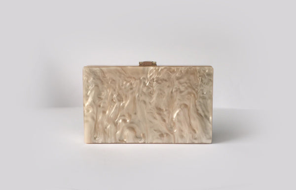 NEW Santorini Rose Gold Acrylic Clutch Evening Clutch by House of Looks