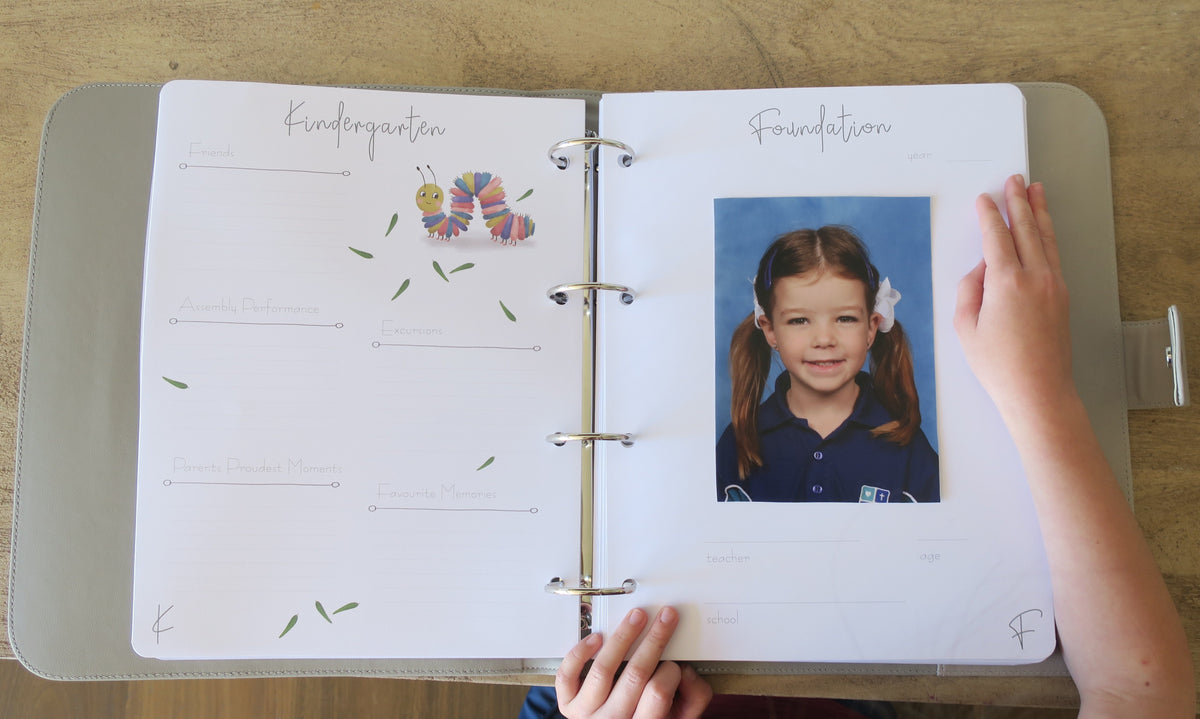 School Portraits can be displayed in your beautiful memory book!