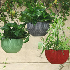 Hanging Braided Pattern Flower Pot