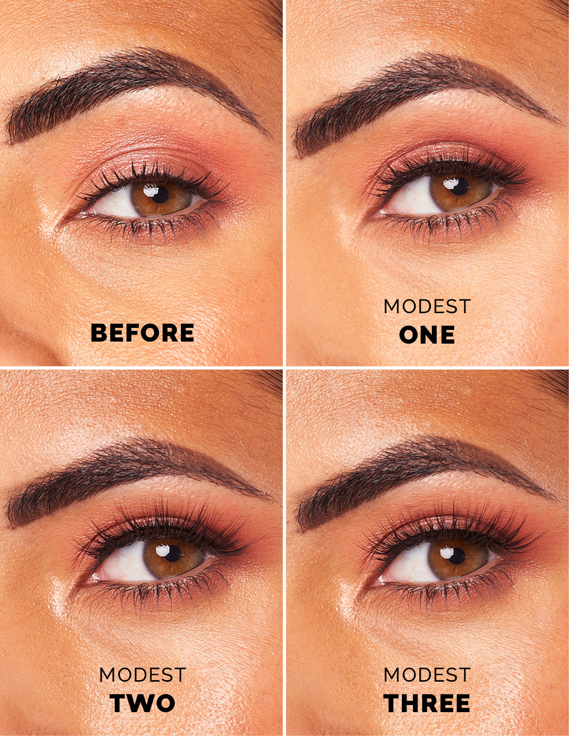 Modest False Lashes / 3 Sizes