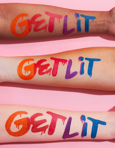Get Lit is our coloured Winged Eyeliner Stamp Collection