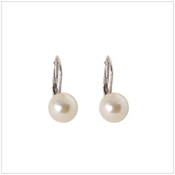 Swarovski Element Classic Pearl Earrings Pearl Cream