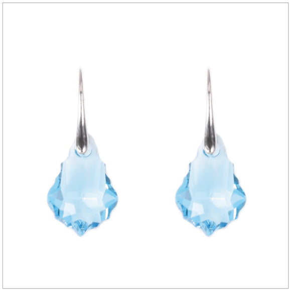 Swarovski Element Baroque Earrings - Aquamarine - swarovski jewellery south africa kcrystals