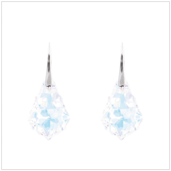 Swarovski Element Baroque Earrings - Aurore Boreale - swarovski jewellery south africa kcrystals