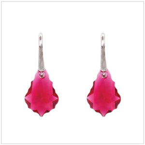 Swarovski Element Baroque Earrings - Ruby - swarovski jewellery south africa kcrystals