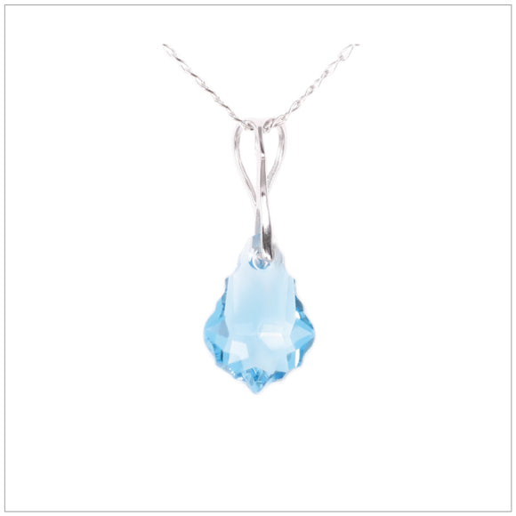 Swarovski Element Baroque Necklace - Aquamarine - swarovski jewellery south africa kcrystals