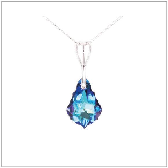Swarovski Element Baroque Necklace - Bermuda Blue - swarovski jewellery south africa kcrystals