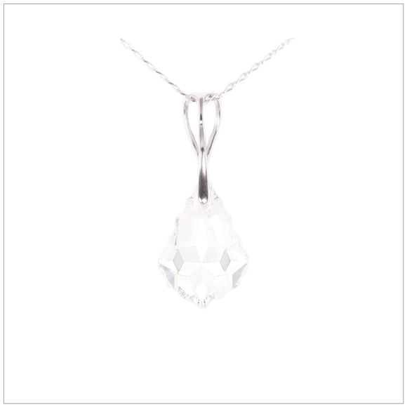 Swarovski Element Baroque Necklace - Crystal - swarovski jewellery south africa kcrystals