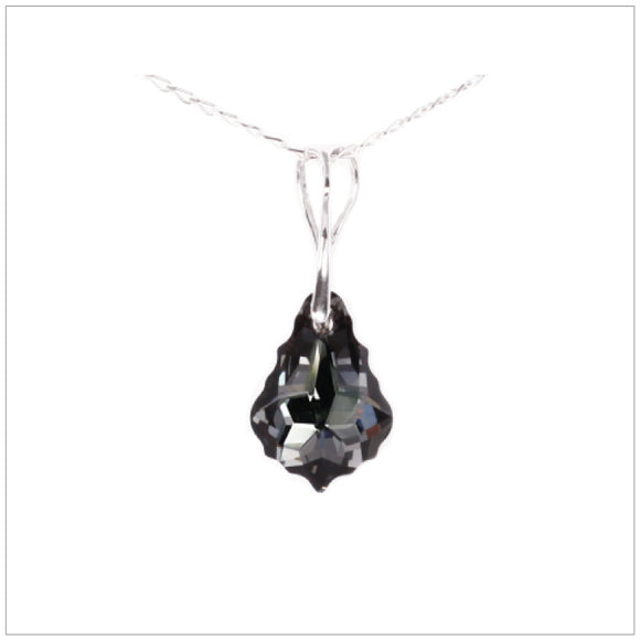 Swarovski Element Baroque Necklace - Silver Night - swarovski jewellery south africa kcrystals