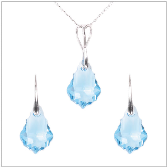 Swarovski Element Baroque Set - Aquamarine - swarovski jewellery south africa kcrystals