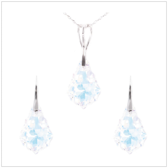 Swarovski Element Baroque Set - Aurore Boreale - swarovski jewellery south africa kcrystals