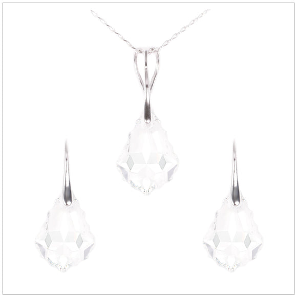 Swarovski Element Baroque Set - Crystal - swarovski jewellery south africa kcrystals
