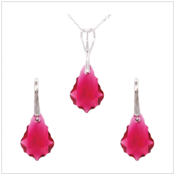Swarovski Element Baroque Set - Ruby - swarovski jewellery south africa kcrystals