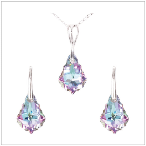 Swarovski Element Baroque Set - Vitrail Light - swarovski jewellery south africa kcrystals