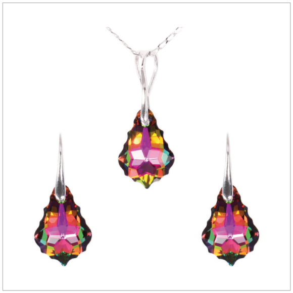 Swarovski Element Baroque Set - Vitrail Medium - swarovski jewellery south africa kcrystals