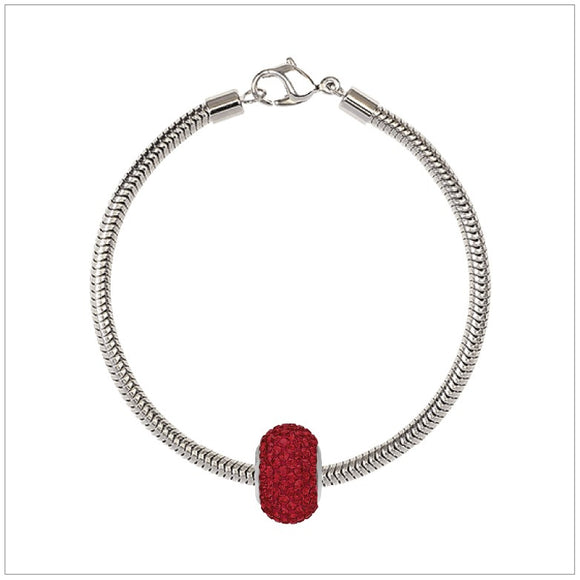 BeCharmed Bracelet Set (19.5cm) Swarovski Element Pave Charm - Light Siam